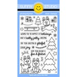 Sunny Studio Stamps - Christmas - Clear Photopolymer Stamps - Gleeful Reindeer