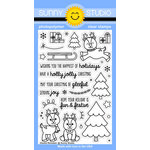 Sunny Studio Stamps - Christmas - Clear Acrylic Stamps - Gleeful Reindeer