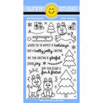 Sunny Studio Stamps - Christmas - Clear Acrylic Stamps - Gleeful Reindeer
