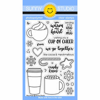 Sunny Studio Stamps - Christmas - Clear Photopolymer Stamps - Mug Hugs