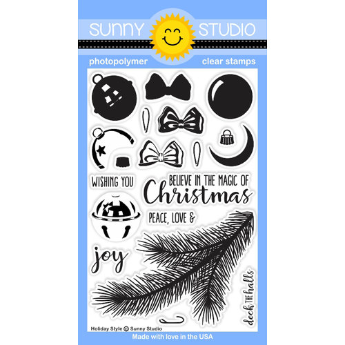 Sunny Studio Stamps - Christmas - Clear Photopolymer Stamps - Holiday Style