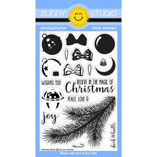 Sunny Studio Stamps - Christmas - Clear Acrylic Stamps - Holiday Style