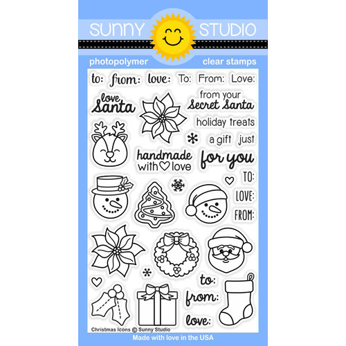 Sunny Studio Stamps - Christmas - Clear Acrylic Stamps - Christmas Icons