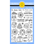 Sunny Studio Stamps - Christmas - Clear Acrylic Stamps - Christmas Icons