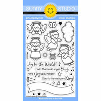 Sunny Studio Stamps - Christmas - Clear Photopolymer Stamps - Little Angels