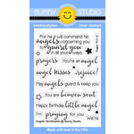 Sunny Studio Stamps - Christmas - Clear Acrylic Stamps - Angelic Sentiments