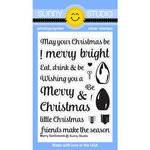 Sunny Studio Stamps - Christmas - Clear Acrylic Stamps - Merry Sentiments