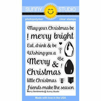 Sunny Studio Stamps - Christmas - Clear Photopolymer Stamps - Merry Sentiments
