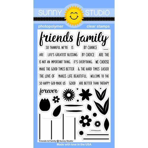 Sunny Studio Stamps - Clear Acrylic Stamps - Friends and Family