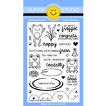 Sunny Studio Stamps - Clear Acrylic Stamps - Froggy Friends