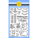 Sunny Studio Stamps - Clear Acrylic Stamps - Easter Wishes