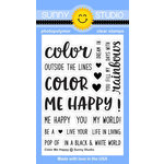 Sunny Studio Stamps - Clear Acrylic Stamps - Color Me Happy