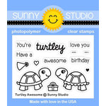 Sunny Studio Stamps - Clear Acrylic Stamps - Turtley Awesome