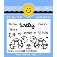 Sunny Studio Stamps - Clear Photopolymer Stamps - Turtley Awesome