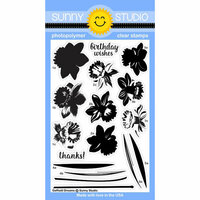 Sunny Studio Stamps - Clear Photopolymer Stamps - Daffodil Dreams