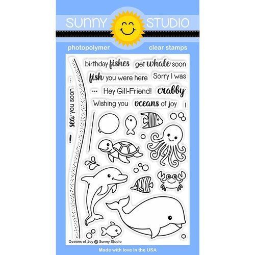 Sunny Studio Stamps - Clear Photopolymer Stamps - Oceans of Joy