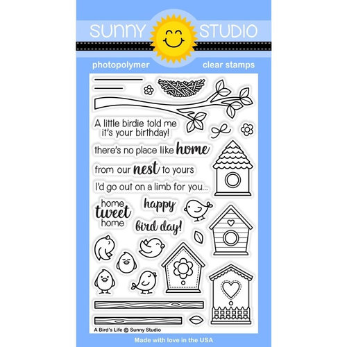 Sunny Studio Stamps - Clear Photopolymer Stamps - A Bird