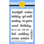 Sunny Studio Stamps - Clear Acrylic Stamps - Heartfelt Wishes