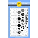 Sunny Studio Stamps - Clear Acrylic Stamps - Quilted Hexagons
