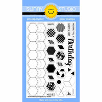 Sunny Studio Stamps - Clear Photopolymer Stamps - Quilted Hexagons