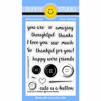 Sunny Studio Stamps - Clear Photopolymer Stamps - Cute As A Button