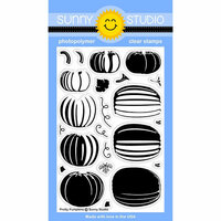 Sunny Studio Stamps - Halloween - Clear Photopolymer Stamps - Pretty Pumpkins