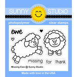 Sunny Studio Stamps - Clear Acrylic Stamps - Missing Ewe
