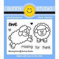 Sunny Studio Stamps - Clear Photopolymer Stamps - Missing Ewe