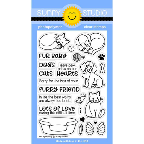 Sunny Studio Stamps - Clear Acrylic Stamps - Pet Sympathy