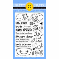Sunny Studio Stamps - Clear Photopolymer Stamps - Pet Sympathy