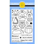 Sunny Studio Stamps - Halloween - Clear Acrylic Stamps - Happy Owl-o-ween