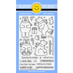 Sunny Studio Stamps - Christmas - Clear Acrylic Stamps - Playful Polar Bears