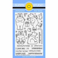 Sunny Studio Stamps - Christmas - Clear Photopolymer Stamps - Playful Polar Bears