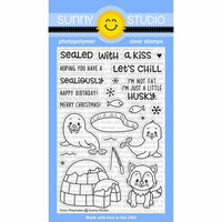 Sunny Studio Stamps - Christmas - Clear Photopolymer Stamps - Polar Playmates