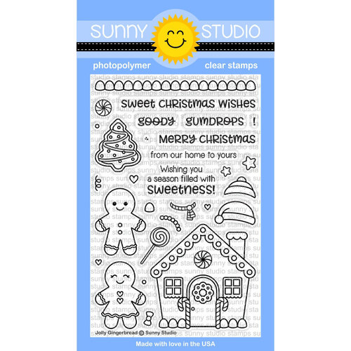 Sunny Studio Stamps - Christmas - Clear Acrylic Stamps - Jolly Gingerbread
