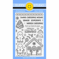 Sunny Studio Stamps - Christmas - Clear Photopolymer Stamps - Jolly Gingerbread