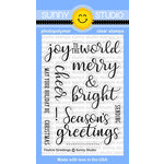 Sunny Studio Stamps - Christmas - Clear Acrylic Stamps - Festive Greetings