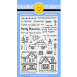 Sunny Studio Stamps - Christmas - Clear Acrylic Stamps - Christmas Home