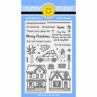 Sunny Studio Stamps - Christmas - Clear Photopolymer Stamps - Christmas Home