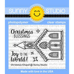 Sunny Studio Stamps - Christmas - Clear Acrylic Stamps - Christmas Chapel
