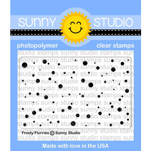 Sunny Studio Stamps - Christmas - Clear Acrylic Stamps - Frosty Flurries