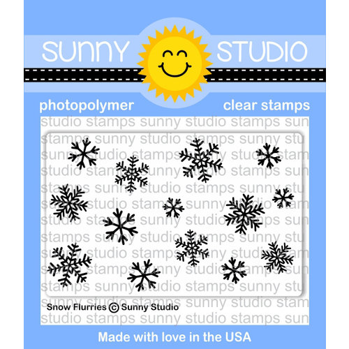 Sunny Studio Stamps - Christmas - Clear Acrylic Stamps - Snow Flurries