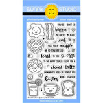 Sunny Studio Stamps - Clear Acrylic Stamps - Breakfast Puns