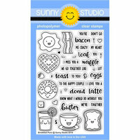 Sunny Studio Stamps - Clear Photopolymer Stamps - Breakfast Puns