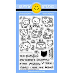 Sunny Studio Stamps - Clear Acrylic Stamps - Purrfect Birthday