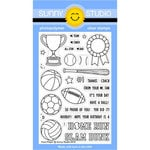 Sunny Studio Stamps - Clear Acrylic Stamps - Team Player
