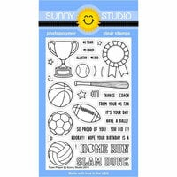 Sunny Studio Stamps - Clear Photopolymer Stamps - Team Player