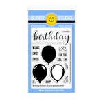 Sunny Studio Stamps - Clear Acrylic Stamps - Birthday Balloon