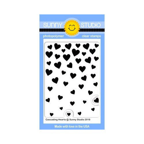 Sunny Studio Stamps - Clear Photopolymer Stamps - Cascading Hearts