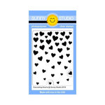 Sunny Studio Stamps - Clear Acrylic Stamps - Cascading Hearts